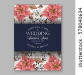wedding invitation card with...   Shutterstock .eps vector #578040634