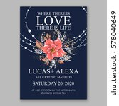 wedding invitation card with... | Shutterstock .eps vector #578040649