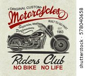 vintage  motorcycle  poster   t ... | Shutterstock .eps vector #578040658