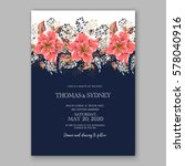 wedding invitation card with... | Shutterstock .eps vector #578040916