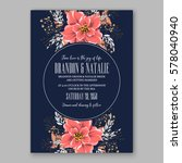 wedding invitation card with... | Shutterstock .eps vector #578040940