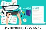 content writer and copywriter... | Shutterstock .eps vector #578043340