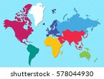 abstract colorful world map ... | Shutterstock .eps vector #578044930