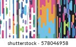 set four bright abstract... | Shutterstock . vector #578046958