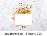 photo frame or gift card with... | Shutterstock . vector #578047720