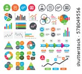 business charts. growth graph.... | Shutterstock .eps vector #578049556