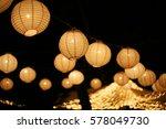 a paper lantern floats on a...   Shutterstock . vector #578049730