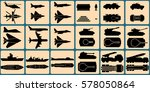 military units silhouettes.... | Shutterstock .eps vector #578050864