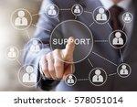 business button support network | Shutterstock . vector #578051014