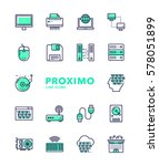 computers futuristic modern... | Shutterstock .eps vector #578051899