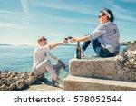 couple in love have romantic... | Shutterstock . vector #578052544