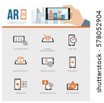 augmented reality added value... | Shutterstock .eps vector #578052904