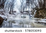 Winter Waterfall And Frozen...