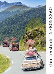 Small photo of COL D'ASPIN,FRANCE - JUL 15: Banette Caravan during the passing of the Publicity Caravan on the road to Col D'Aspin in Pyrenees Mountains during the stage 11 of Le Tour de France 2015.