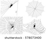 illustration with four spider... | Shutterstock .eps vector #578073400