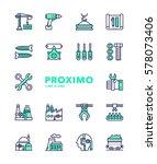 industry futuristic modern... | Shutterstock .eps vector #578073406