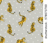 vector seamless pattern with... | Shutterstock .eps vector #578073700