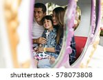 family holiday vacation... | Shutterstock . vector #578073808
