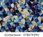 Stock photo digital art abstract pattern abstract blue image with a small squares 578079394