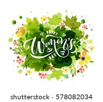 happy women's day text as... | Shutterstock .eps vector #578082034