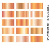 set of rose gold gradients on... | Shutterstock .eps vector #578083063