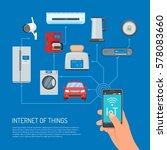 internet of things vector... | Shutterstock .eps vector #578083660