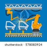 vector illustration of spot... | Shutterstock .eps vector #578083924