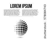 sphere abstract vector logo... | Shutterstock .eps vector #578084743