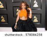rihanna at the 59th grammy... | Shutterstock . vector #578086258