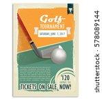 golf game. retro golf poster or ...   Shutterstock .eps vector #578089144