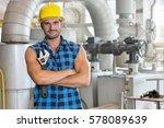 portrait of young worker...   Shutterstock . vector #578089639