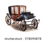 Vintage Carriage  Hand Drawn...