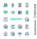 weight loss futuristic modern... | Shutterstock .eps vector #578091838