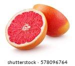 grapefruit citrus fruit halves... | Shutterstock . vector #578096764