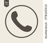 simple phone symbol in circle....   Shutterstock .eps vector #578103313