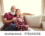 happy mature couple in love... | Shutterstock . vector #578104258