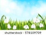 spring background with... | Shutterstock .eps vector #578109709