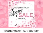 advertisement about the spring...   Shutterstock .eps vector #578109739