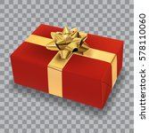 realistic red present with the... | Shutterstock .eps vector #578110060