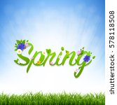 spring banner with gradient... | Shutterstock .eps vector #578118508