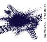 dark blue ink blots with...   Shutterstock .eps vector #578118844