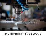 metalworking cnc milling... | Shutterstock . vector #578119078