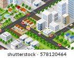isometric 3d building city... | Shutterstock .eps vector #578120464
