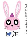 cute rabbit | Shutterstock .eps vector #578121364