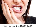 woman with a toothpain ... | Shutterstock . vector #578121430