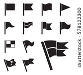 flag vector icon set isolated... | Shutterstock .eps vector #578122300