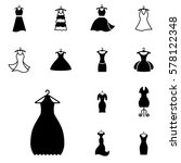 party fashion dress icon or... | Shutterstock .eps vector #578122348