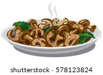 illustration of cooked fried... | Shutterstock .eps vector #578123824
