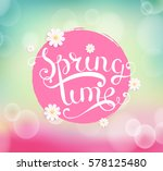 spring timetypographical... | Shutterstock .eps vector #578125480