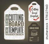 hand drawn cutting board mockup ... | Shutterstock .eps vector #578127460